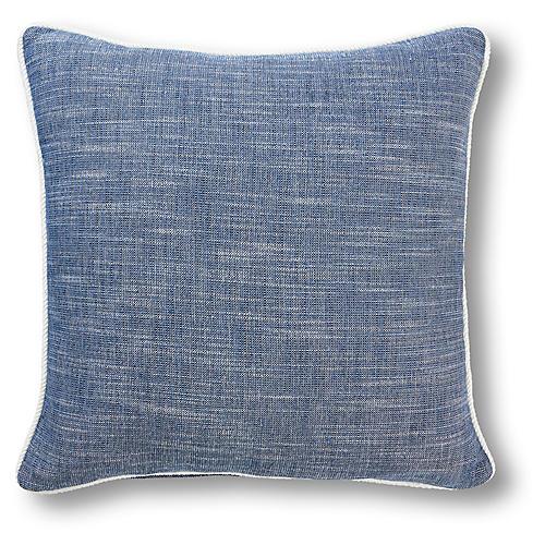 Lola 20x20 Pillow, Cobalt/Ivory