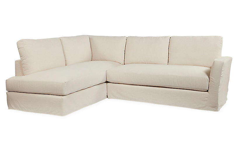 Reese Sectional, Ivory