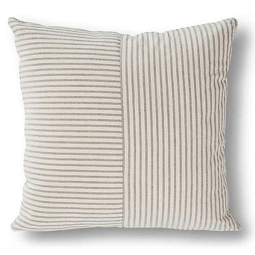 Serena 20x20 Pillow, Gray/Beige