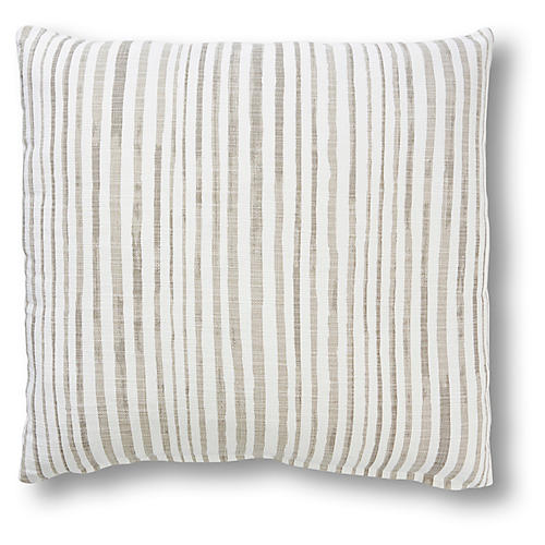 Emma 20x20 Pillow, Dune/White