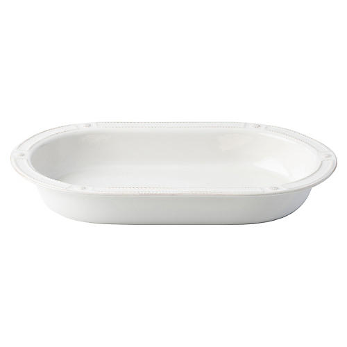 Berry & Thread Oval Baker, Whitewash