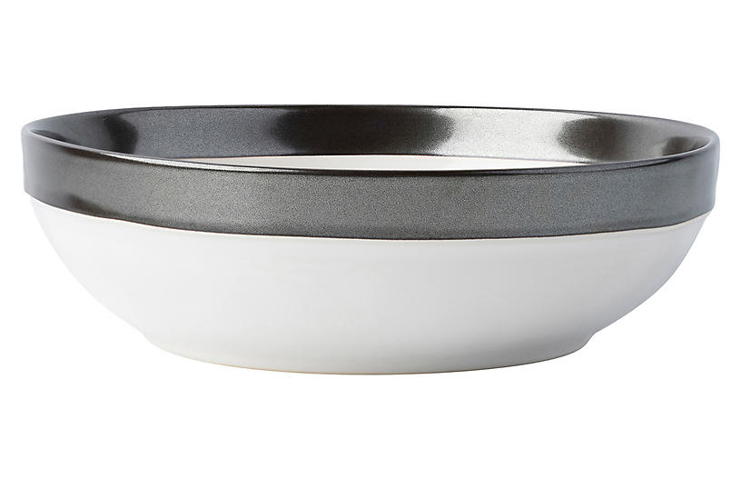 Emerson Coupe Bowl, White/Pewter