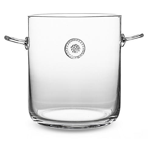 Berry & Thread Ice Bucket w/Tongs, Clear