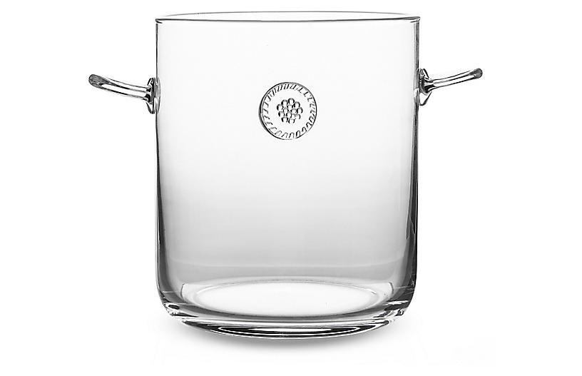 Berry & Thread Ice Bucket w/Tongs, Clear