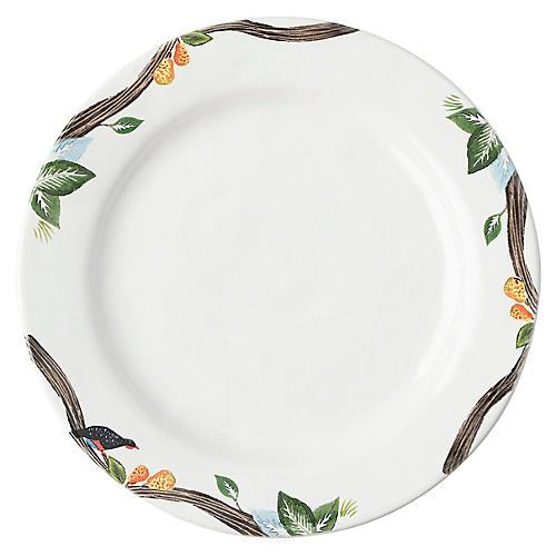 Twelve Days of Christmas Dinner Plate, White
