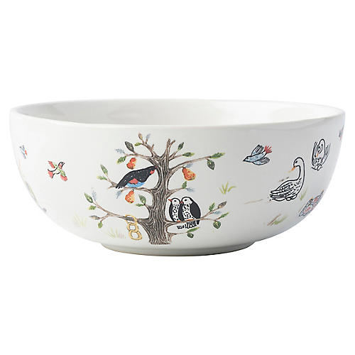 Twelve Days of Christmas Cereal Bowl, White
