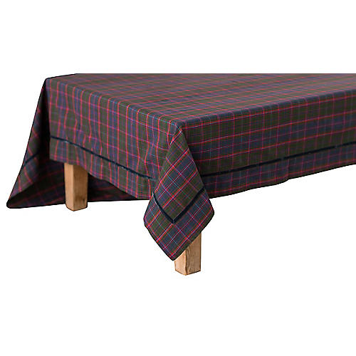 Chalet Tartan Tablecloth, Multi