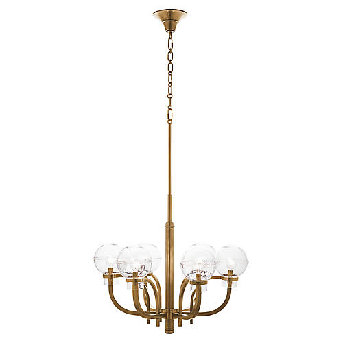 Graham London Chandelier, Brass