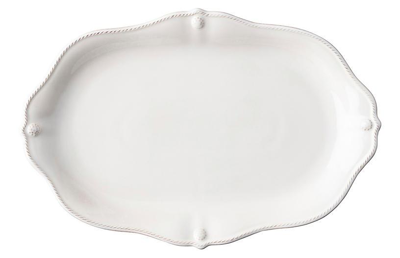Berry & Thread Platter, Whitewash