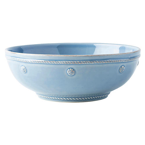 Berry & Thread Pasta Bowl, Chambray