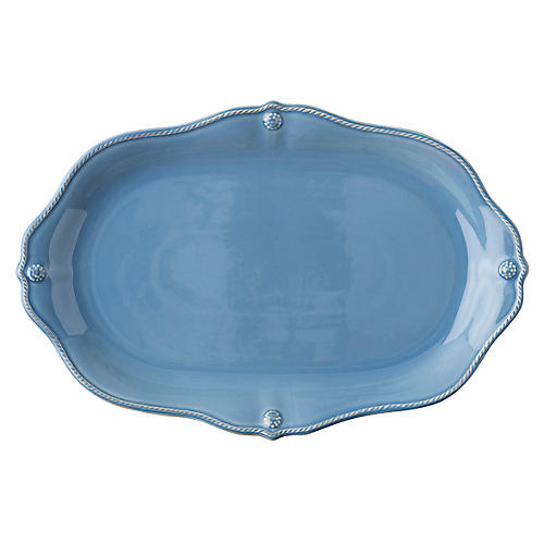 Berry & Thread Platter, Chambray