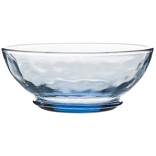 Carine Ice Cream Bowl, Clear/Blue