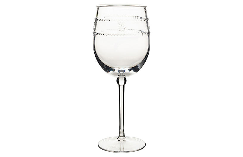 Isabella Acrylic Wineglass, Clear