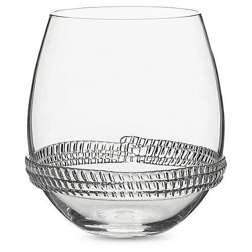 Dean Stemless Wineglass, Clear