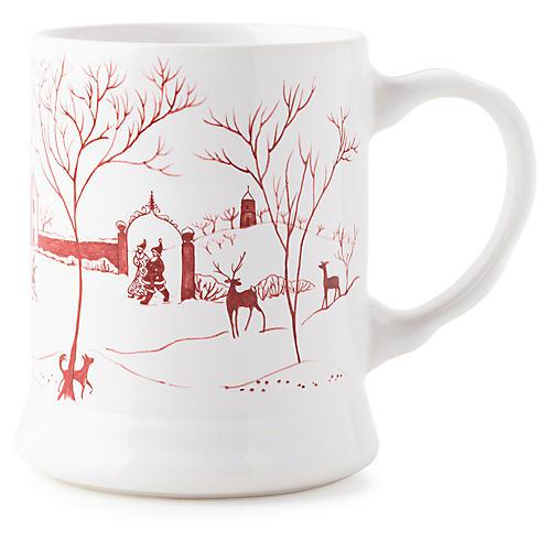Winter Frolic Mug, Ruby