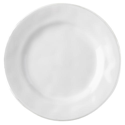Puro Platinum-Rim Cocktail Plate, White