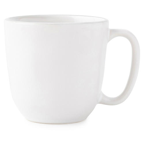 Puro Platinum-Rim Coffee Mug, White