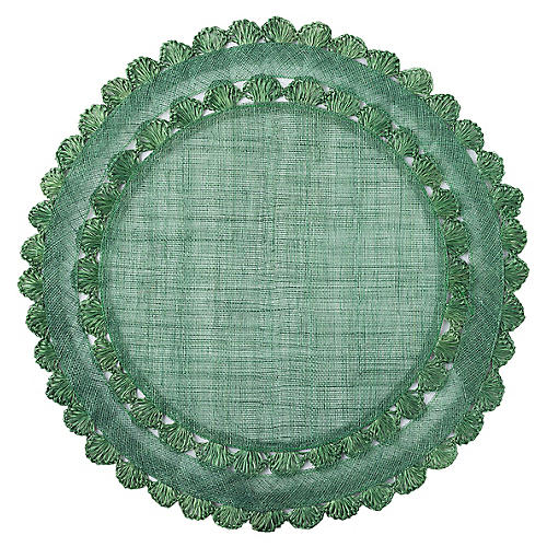 Isadora Place Mat, Evergreen