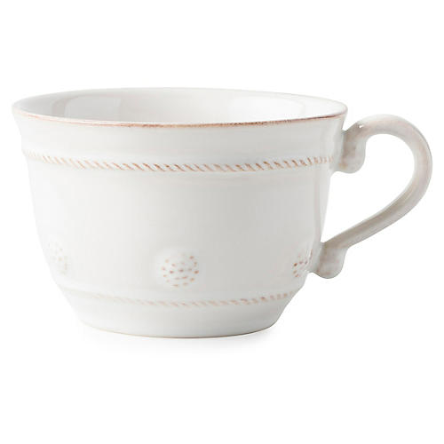 Berry & Thread Teacup, Whitewash