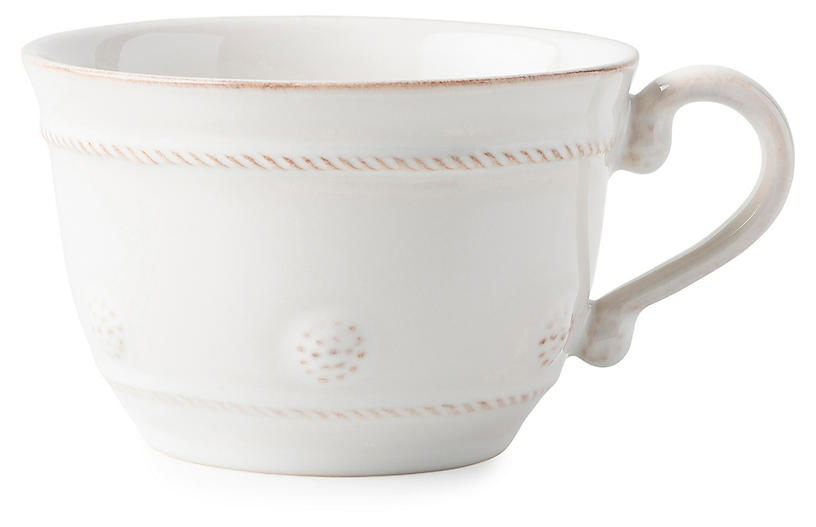 Berry & Thread Teacup, Whitewash