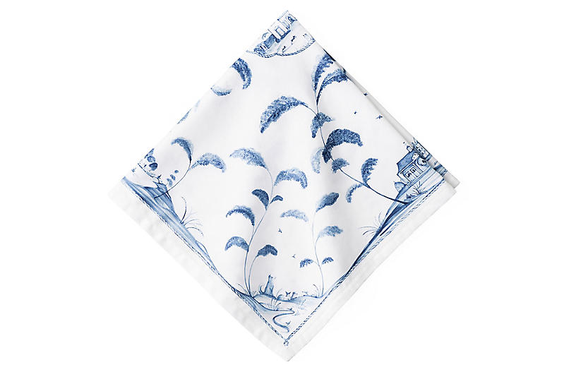 Country Estate Napkin, White/Blue