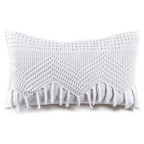 Willow 14x24 Lumbar Pillow, White