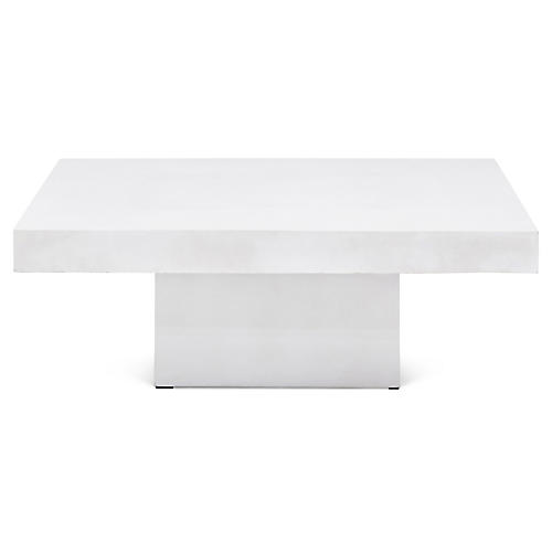 Malena Rectangular Coffee Table, Ivory