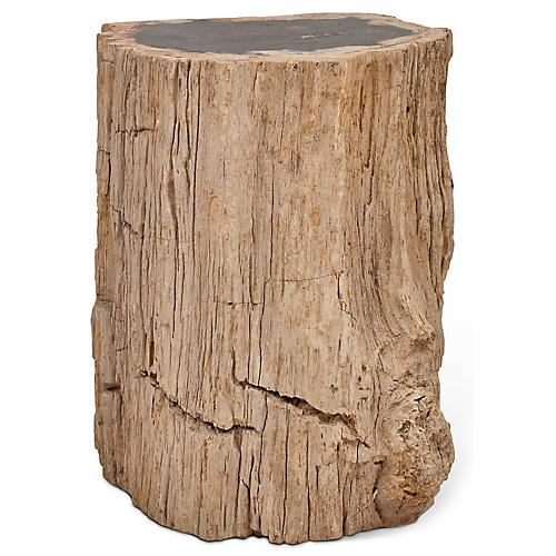 Stump Stool, Dark Natural