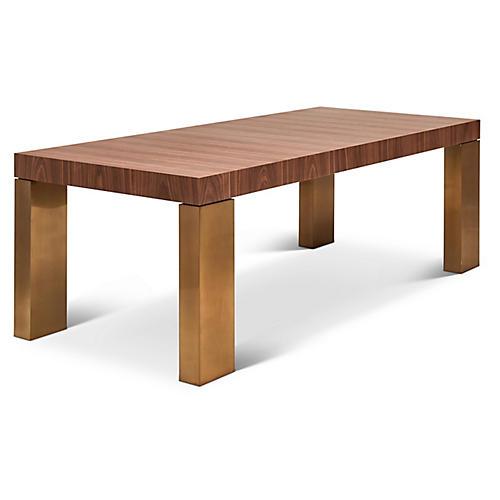 Brisa Dining Table, Walnut/Brass