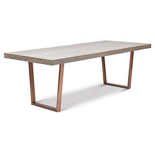 Rodrigo Dining Table, Brushed Brass