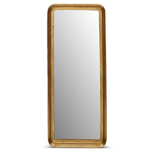Neri Wall Mirror, Antiqued Brass