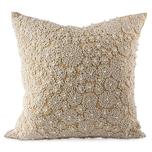 Lalita 20x20 Pillow, Natural Linen