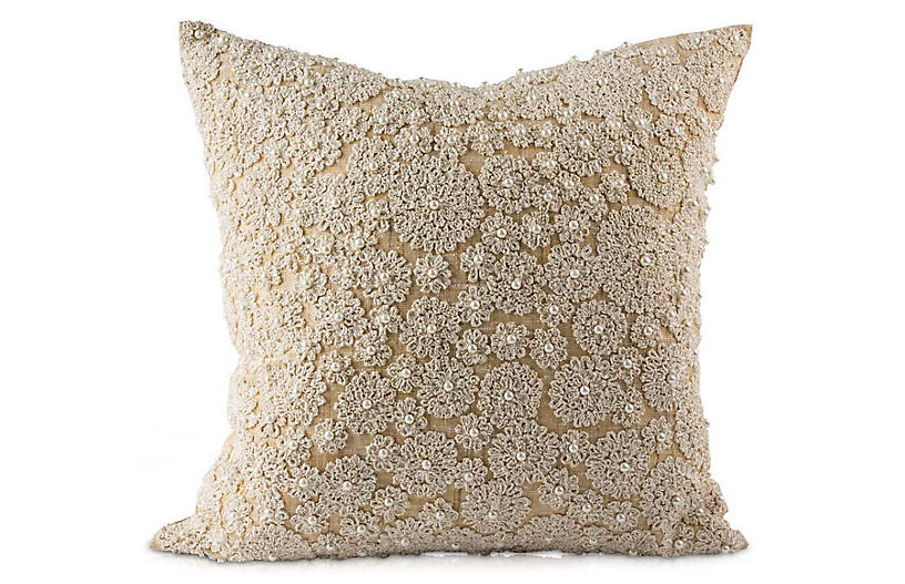 Lalita 20x20 Pillow, Natural Linen