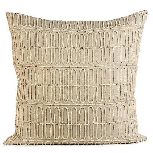 Gulechin 20x20 Pillow, Natural Linen