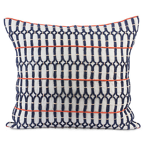 Gulechin 20x20 Pillow, Navy Linen