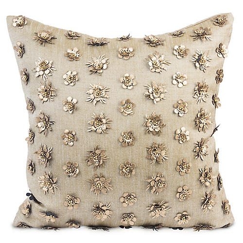 Kaliyann 20x20 Pillow, Blush Linen