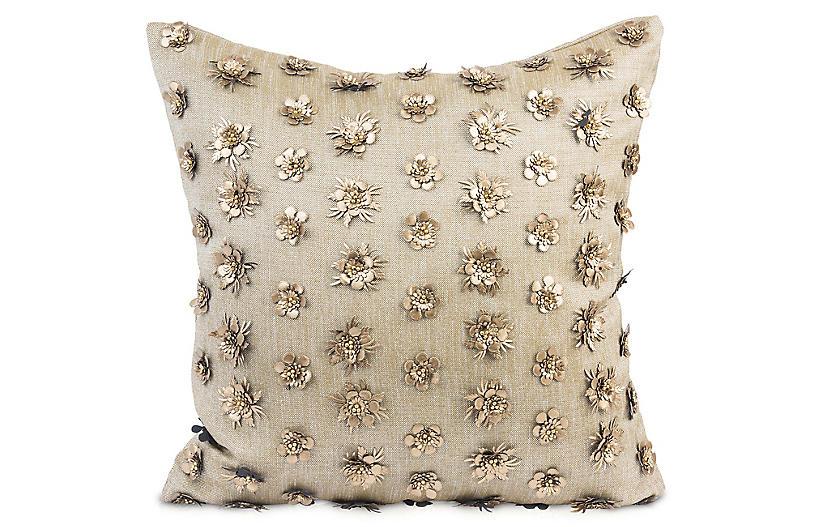 Kaliyann 20x20 Pillow, Blush Linen