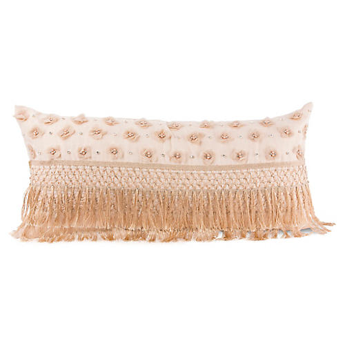 Pisa 14x25 Lumbar Pillow, Blush Linen