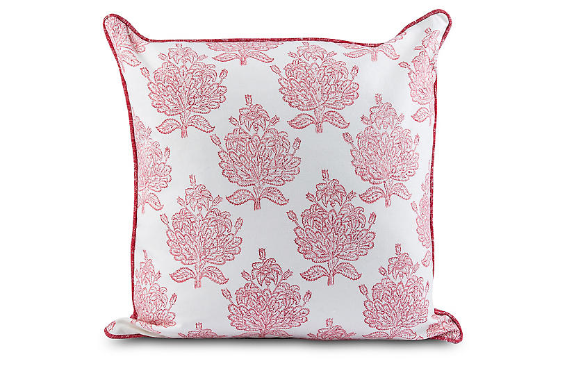 Elinah 20x20 Pillow, Red