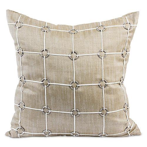 Uma 20x20 Pillow, Gold Linen