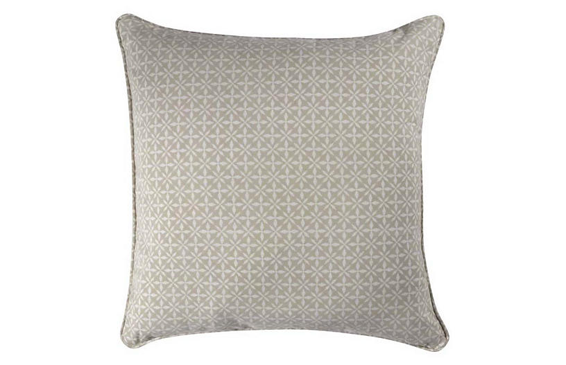 Ziva 16x16 Pillow, Gray