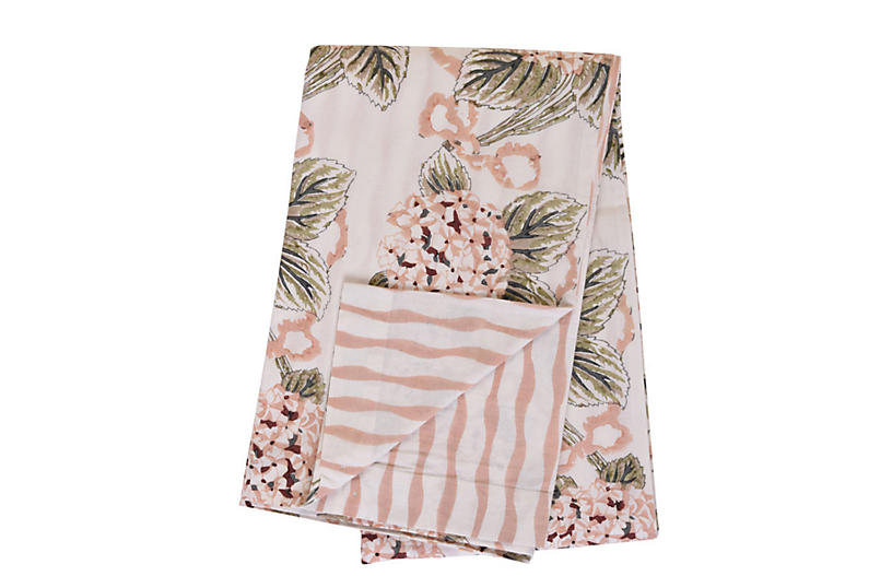 Hydrangea Duvet Cover, Blush