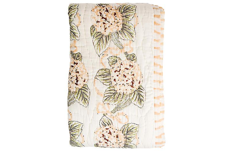 Hydrangea Quilt, Blush