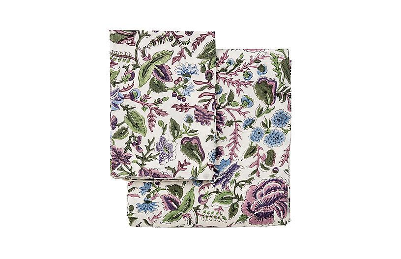Paradise Duvet Cover, Purple/Multi