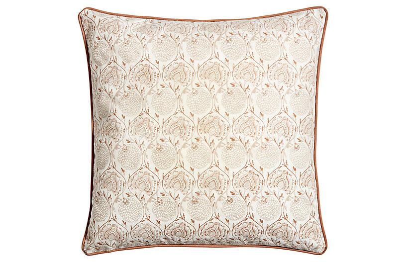 Lal Pillow, Ivory/Tan