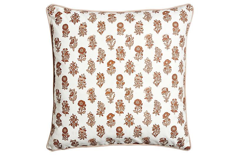 Nishik Pillow, Ivory/Tumeric