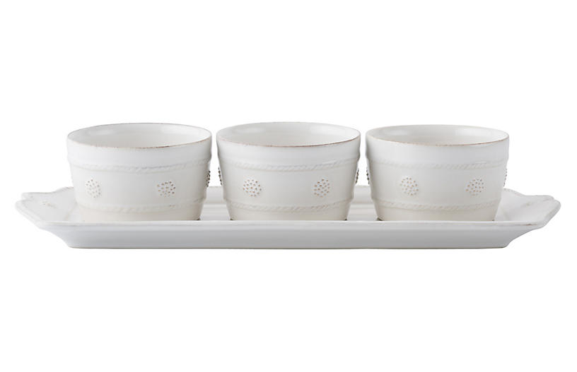 Set of 4 Berry & Thread Serveware Set - White - Juliska