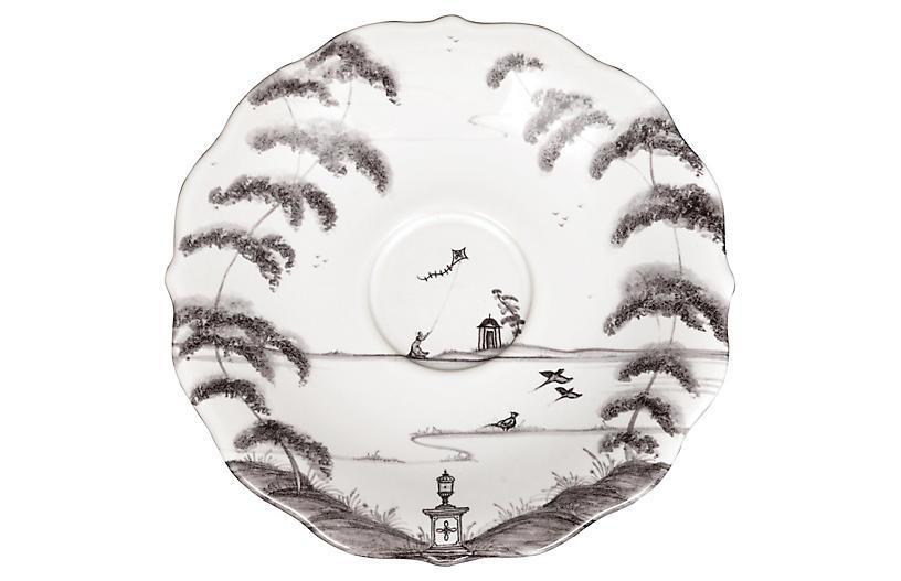 Country Estate Tea Saucer, White/Black