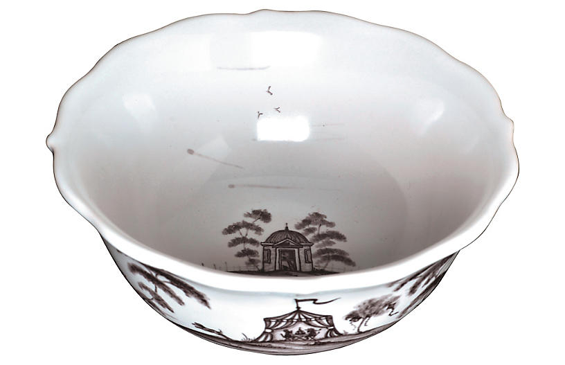 Country Estate Cereal Bowl, White/Black