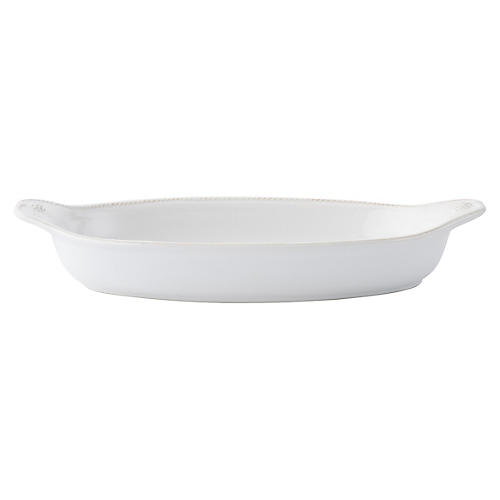 Berry & Thread Shallow Baker, White